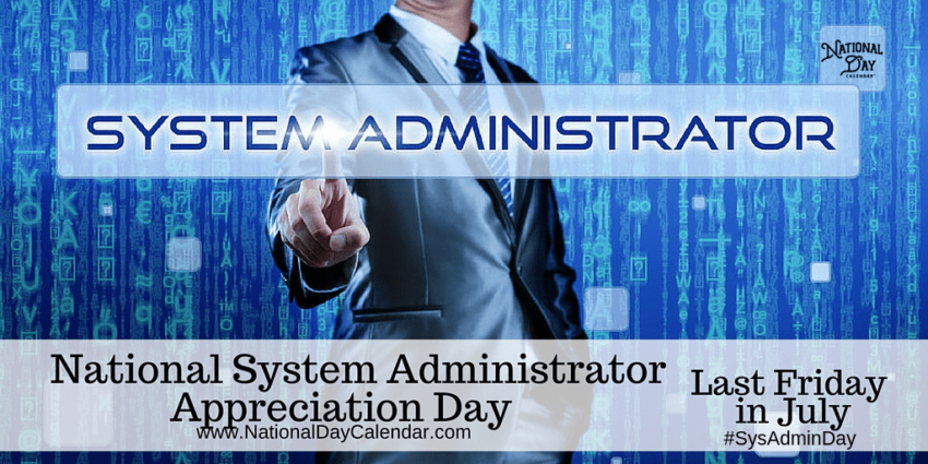 National System Administrator Appreciation Day